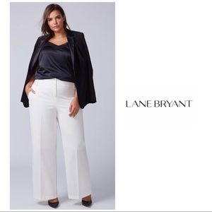 NEW Lane Bryant Lena Wide leg Trouser Cream